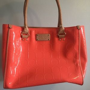 Kate Spade Coral Embossed Patent Leather Tote